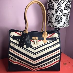 Tommy Hilfiger Large Canvas Tote